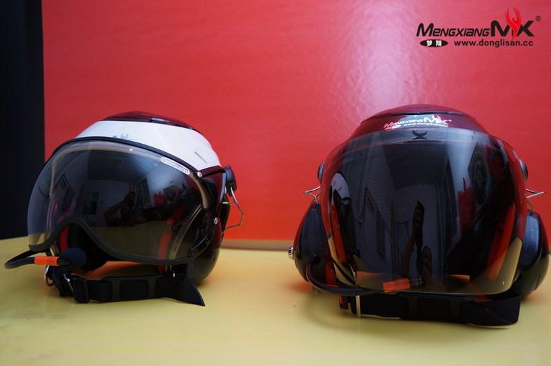梦翔出品纯手工定制新款动力伞专用头盔带风镜高配战士版